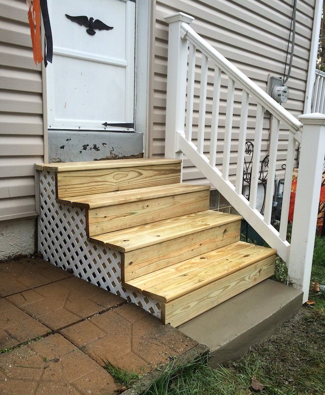 Exterior Wood Steps Glenside Jr Carpentry Amp Tile