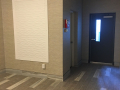 Apartment Lobby Makeover In Sea Isle entry door after 1