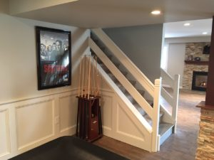 Lafayette Hill Basement Remodeling - Stairs