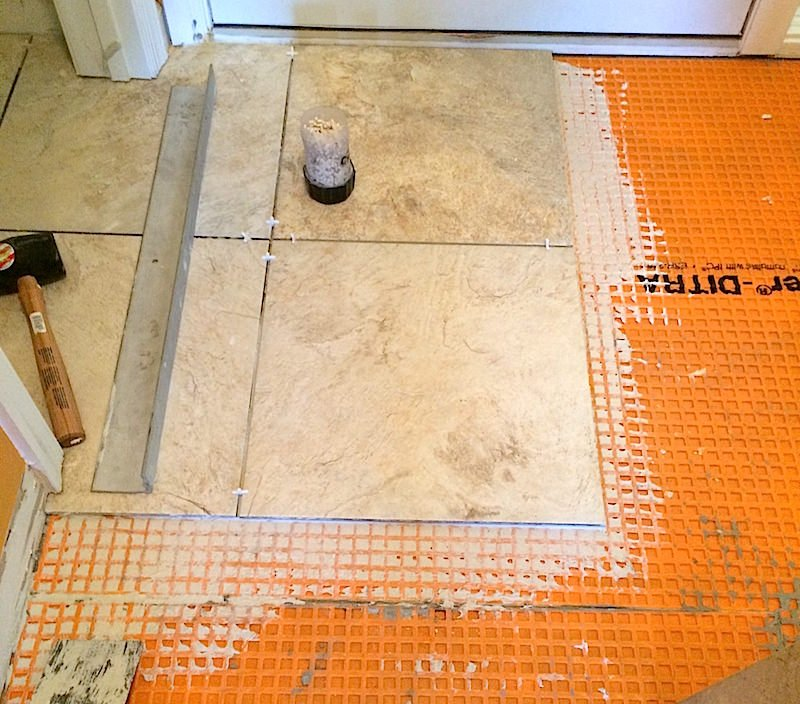 JR Carpentry & Tile has experience installing large format tile.