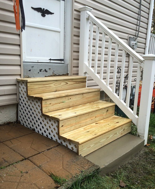Exterior Wood Steps Glenside Jr Carpentry Tile