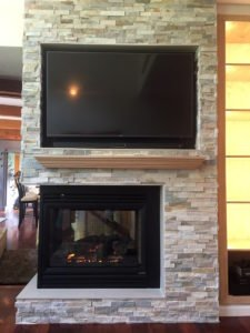 New fireplace in Southampton
