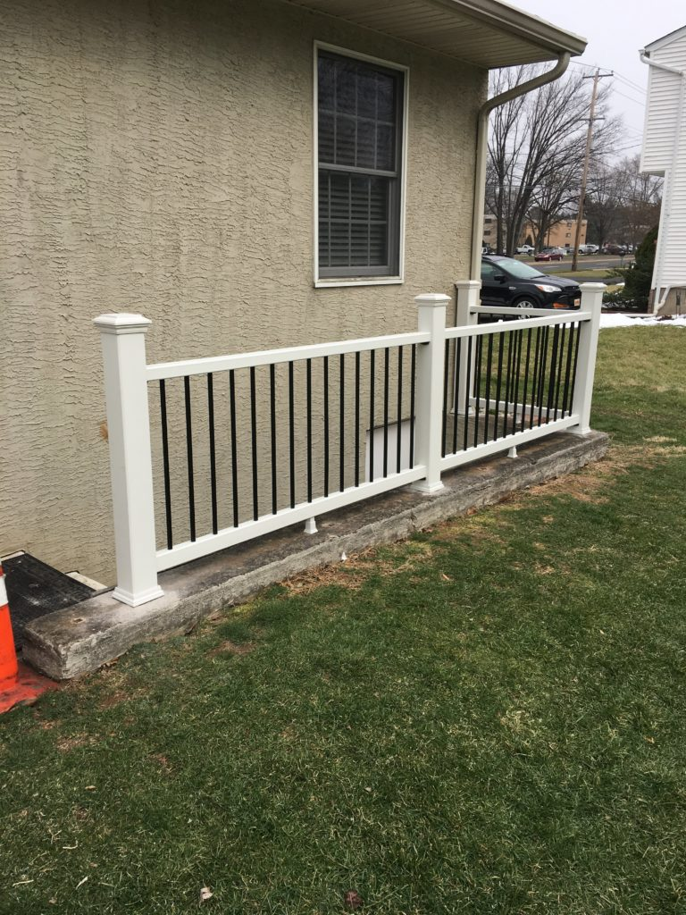 exterior railing upgrade