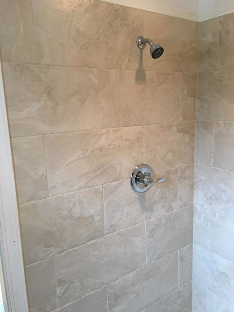 shower stall installation