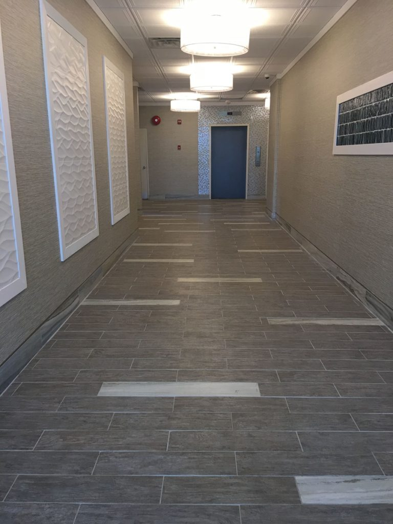 apartment lobby makeover in Sea Isle